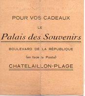 Chatelaillon-plage (17 Charente Maritime) Horaire Des Marées 1930 Offert Par PALAIS DES SOUVENIRS  (PPP12828) - Europe