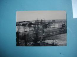 PHOTOGRAPHIE POISSY  -  78  -  Le Pont  -  1966   - 7,5 X 10,5 Cms - Yvelines - Poissy