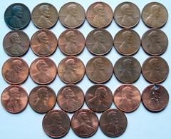 Etats Unis - One Cent 1945 à 1996 Lot 27 Pièces De Monnaie - Lots