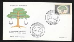 Gabon Lettre Illustrée Premier Jour Libreville 10/12/1963  N°168 15ème Ann.Déclaration Universelle Droits De L'Homme TB - Gabon
