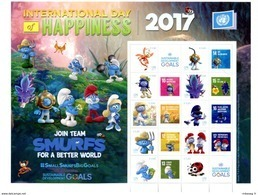 "ONU Vienne 2017 - Feuille De Timbres Personnalisés ""International Day Of Happiness"" SD Goals ** - Blocs-feuillets"