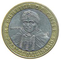 [NC] CILE - CHILE - 100 PESOS 2001 BIMETALLIC COIN - Cile