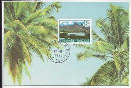 """POLYNESIE FRANCAISE - Timbre 2 Fr UAPOU """"Paysages De La Polynésie Française"""" Cachet Papeete Ile Tahiti 30-8-1991 - TB - - Lettres & Documents"""