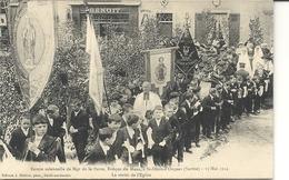 ST DENIS D'ORQUES . VISITE DE MGR L'EVEQUE DU MANS . 1914 - France