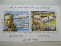 Congo (Kinshasa ) 2002  Nobel Price   Sheet  3 - Repubblica Democratica Del Congo (1997 - ...)
