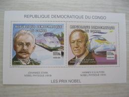 Congo (Kinshasa ) 2002  Nobel Price   Sheet  8 - Repubblica Democratica Del Congo (1997 - ...)