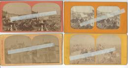 4 Stéréos SUISSE THOUNE THUN Circa 1865 1870 PHOTO STEREO /FREE SHIPPING REGISTERED - Stereoscopic