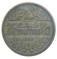 [NC] LIBANO - 25 PIASTRES - 1952 - Libano