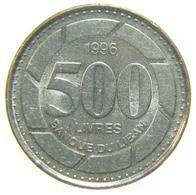 [NC] LIBANO - 500 LIVRES - 1996 - Libano