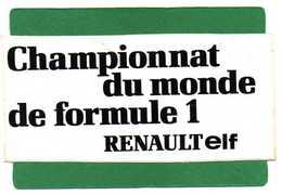 STICKER AUTOCOLLANT - Championnat Du Monde De Formule 1 RENAULT Elf Dimension17cmX8cm - Stickers