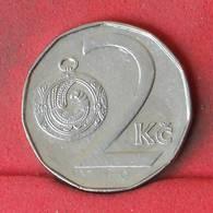 CZECH REPUBLIC 2 KORUNY 1995 -    KM# 9 - (Nº23137) - Tschechische Rep.