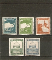 PALESTINE 1927 VALUES TO 13M SG 90, 91, 93, 94a, 98 MOUNTED MINT Cat £27+ - Palestine