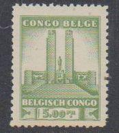 Belgisch Congo 1941 Monument Koning Albert I Te Leopoldstad 5 Fr  1w  ** Mnh (38938F) - Belgisch-Kongo