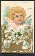 CPA - Illustration  - Ange - Joyeux Noël - Carte En Léger Relief  (dos Non Divisé) - Angels