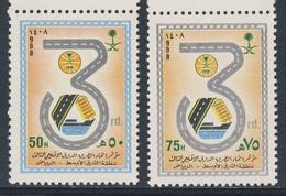 Saudi Arabia 1988 Mi 906 /7 Sc 1073 /4 ** 3rd Int Roads Federation (Middle East Region) Meeting, Riyadh/Straßenkonferenz - Transportmiddelen