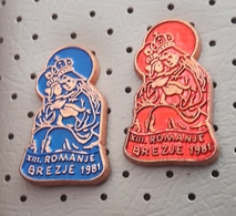 XIII. Pilgrimage On Brezje 1981 Mary Help Of Christians Madonna With Child SLOVENIA Pins - Celebrities