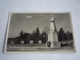 SUISSE SCHWEIZ - CACHET - PHOTO - MONUMENT NATIONAL SUISSE - LA SENTINELLE DES RANGIERS - GRENZWACHT-NATIONALDENKMAL - JU Jura