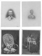 4 Photos Vers 1905 , Famille, Enfants  ( Ardèche, Drôme, à Localiser ) - Personnes Anonymes