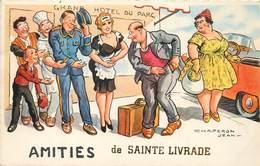 SAINT LIVRADE - Amitié Carte Fantaisie Illustrée Par Chaperon Jean. - Autres Communes