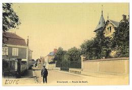 Cpa: 27 BREUILPONT (ar. Evreux) Route De Bueil (animée, Carte Toilée) - France