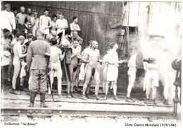 CPSM 2em GUERRE MONDIALE 1939-1945.SOLDATS FRANCAIS PRISONNIERS DES ALLEMANDS A LA STATION D'EPOUILLAGE - France