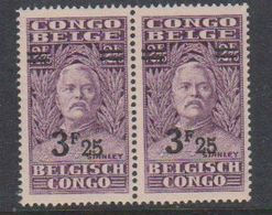 Belgisch Congo 1931 Stanley Ovptd 3.25F Op 2.75F (paar) ** Mnh (38940C) - Belgisch-Kongo