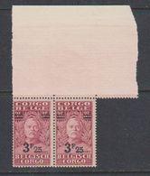 Belgisch Congo 1931 Stanley Ovptd 3.25F Op 3.50F (paar) ** Mnh (38940E) - Belgisch-Kongo