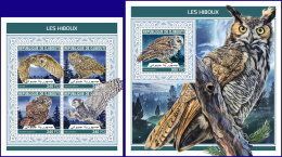 DJIBOUTI 2018 MNH** Owls Eulen Hiboux M/S+S/S - OFFICIAL ISSUE - DH1813 - Eulenvögel