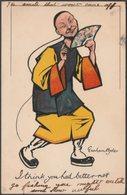 Graham Hyde - I Think You Had Better Not, 1904 - Tuck's Write Away Postcard - Illustrators & Photographers