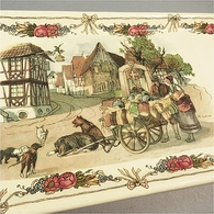 ~ PLAT A CAKE EN FAÏENCE OBERNAI SARREGUEMINES - Alsace Loux - Dishes