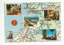 Cp , Carte Géographique , Le MAROC , D'aprés Carte Michelin N° 169 , Vierge , Ed. El Bahia , N° 021 - Cartes Géographiques
