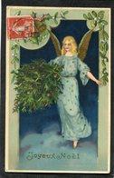 CPA - Ange - Joyeux Noël - Léger Relief - Angels