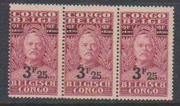 Belgisch Congo 1931 Stanley Ovptd 3.25F Op 3.50F (strip Van 3) ** Mnh (38941) - Belgisch-Kongo