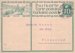 Schweiz Alte Ganzsachen  Karte  (ka3195  )  .....-siehe Scan Vergrößert - Postwaardestukken