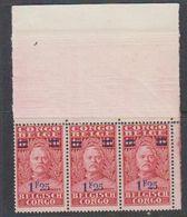 Belgisch Congo 1931 Stanley Ovptd 1.25F Op 1F (strip Van 3) ** Mnh (38941D) - Belgisch-Kongo