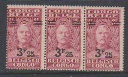 Belgisch Congo 1931 Stanley Ovptd 3.25F Op 3.50F (strip Van 3) ** Mnh (38941I) - Belgisch-Kongo