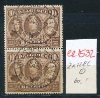 Belgien   -Nr.  2x 128   O  (ee1532  ) Siehe Scan - Belgien