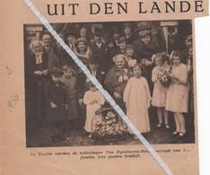 WEELDE...1936... RAVELS GOUDEN BRUILOFT BIJ VAN EYNDHOVEN - BOLS - Vieux Papiers