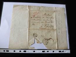 LETTRE DE BREST POUR PARIS  -  1816  -  CACHET P28P BREST - 1792-1815: Conquered Departments