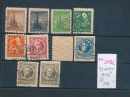 SBZ  Nr. 92-99 Y / A+B   O-Spargummi  (oo3092  ) Siehe Scan  Vergrößert - Zone Soviétique