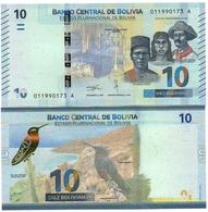 Bolivia - 10 Bolivianos 2018 ( 1986 ) Serie A UNC Ukr-OP - Bolivie