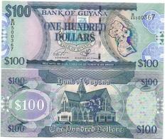 Guyana - 100 Dollars 2016 UNC P. 36c Ukr-OP - Guyana