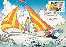 D34079 CARTE MAXIMUM CARD FD 1997 NETHERLANDS - COMICS BOB ET BOBETTE SUSKE EN WISKE COMICS CP ORIGINAL - Comics