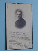 DP L'Abbé Camille HALLET - Blancheoreille (Jéhonville) 30 Avril 1867 - Vielsalm 11 Juli 1944 ( Voir Photo )! - Todesanzeige