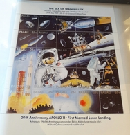 O)1969 PALAU, SPACE-ASTRONAUTS, FIRST MANNED LUNAR  LANDING-THE SEA -BASE HERE-THE EAGLE-WREENWICH, MMH - Palau