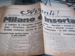 GIORNALE AVANTI 26 APRILE 1945 - War 1939-45