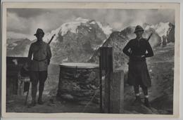 Passo Dello Stelvio E Pizzo Garibaldi, Confine Italo Svizzero Grenzwächter - GR Grisons