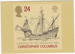 Christopher Columbus - Europa '92 - Landfall In The America's 1492 - (24p Stamp)  - (U.K.) - Postzegels (afbeeldingen)