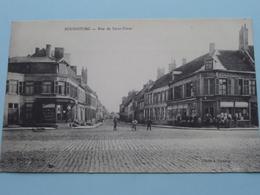 BOURBOURG - Rue De Saint Omer ( Edit. Vve Jaussoone (?) ) Poste Militaires Belgique ( Zie Foto Voor Details ) ! - Dunkerque