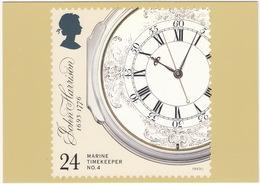 Marine Timekeepers - No.4 : Decorated Enamel Dial  - (24p Stamp)  - (U.K.) - Postzegels (afbeeldingen)